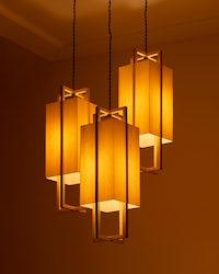 J Herman cross lamps