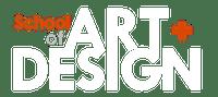 Art and design logo white