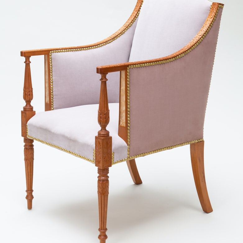 Carved Arm Chair Aspen Golann