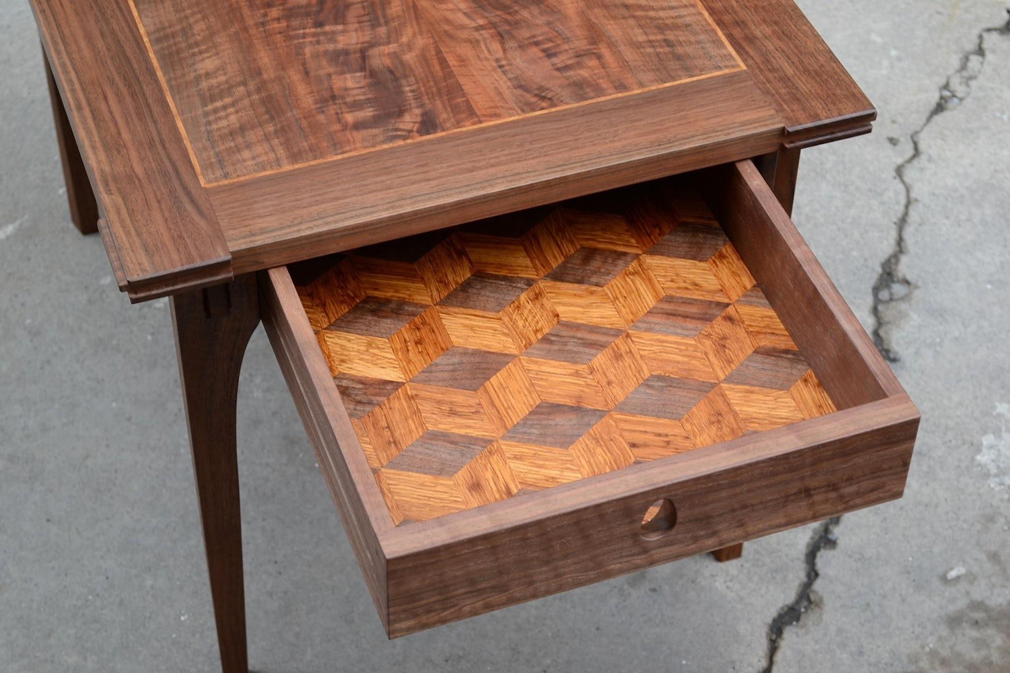Walnut-side-tables