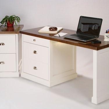 Walnut topped desk