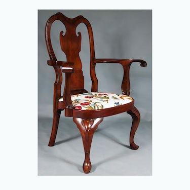 Exact Replica of Philadelphia Queen Anne Arm Chair Ca. 1740 (2010)