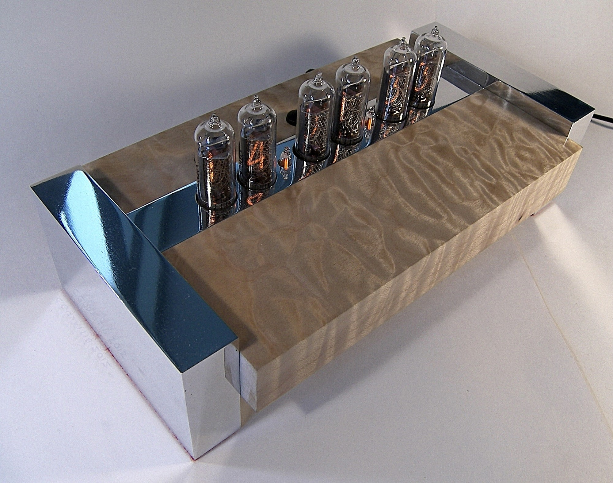 Quilted maple nixie tube clock