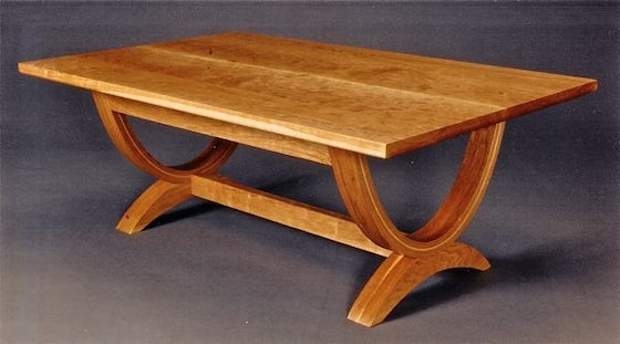 Curved-coffee-table