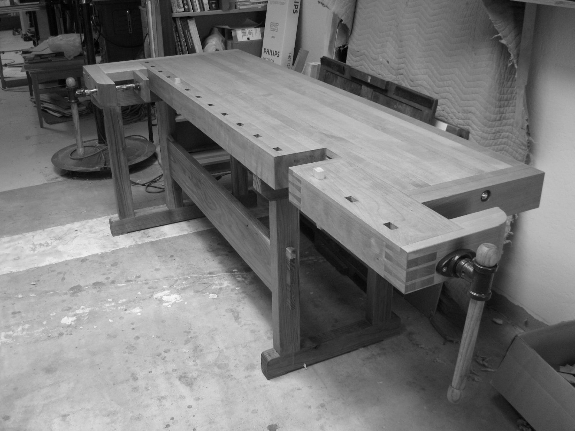 Workbench, beech and redwood, 2010