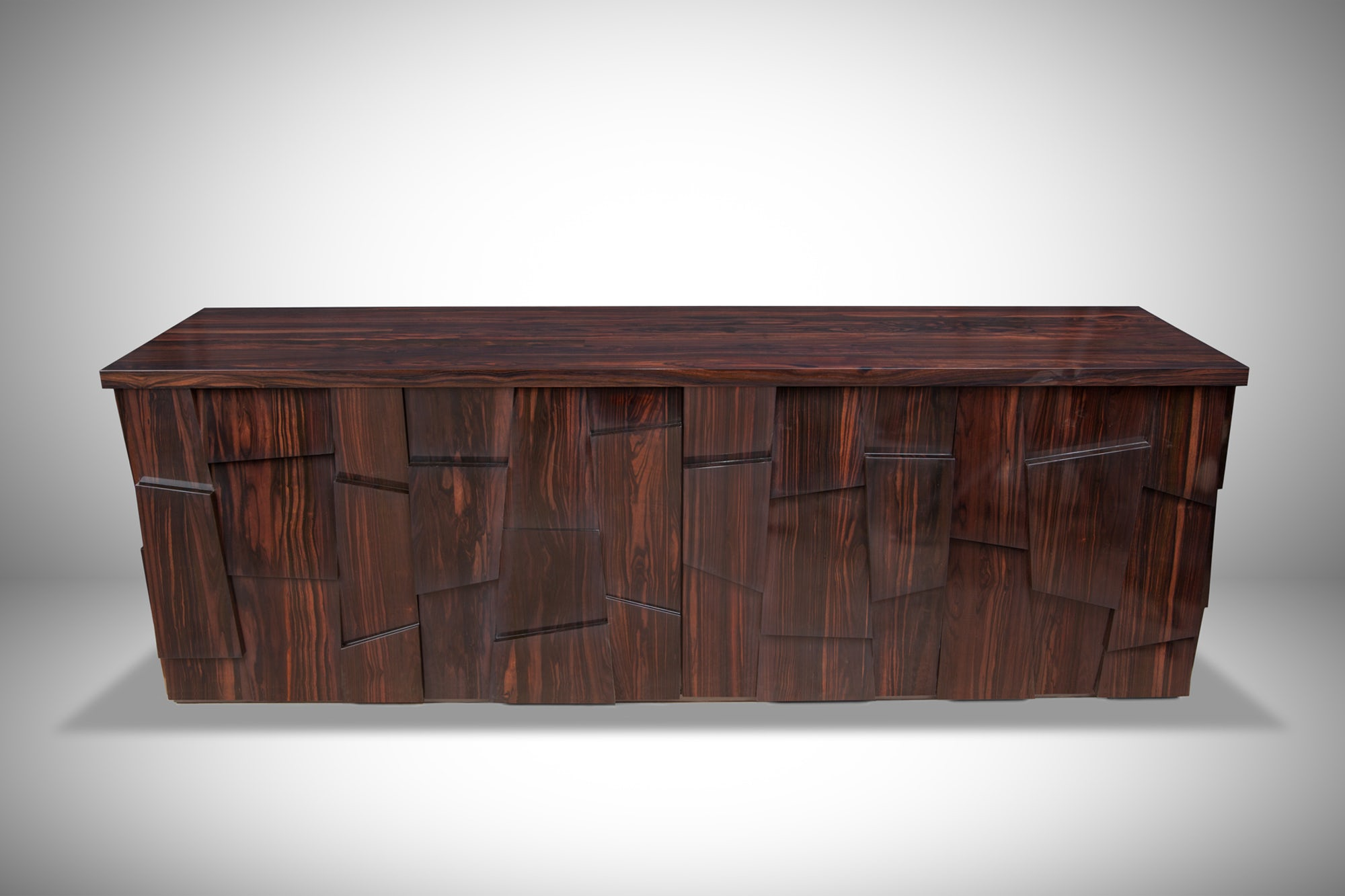 Ebony Block-Piece Sideboard