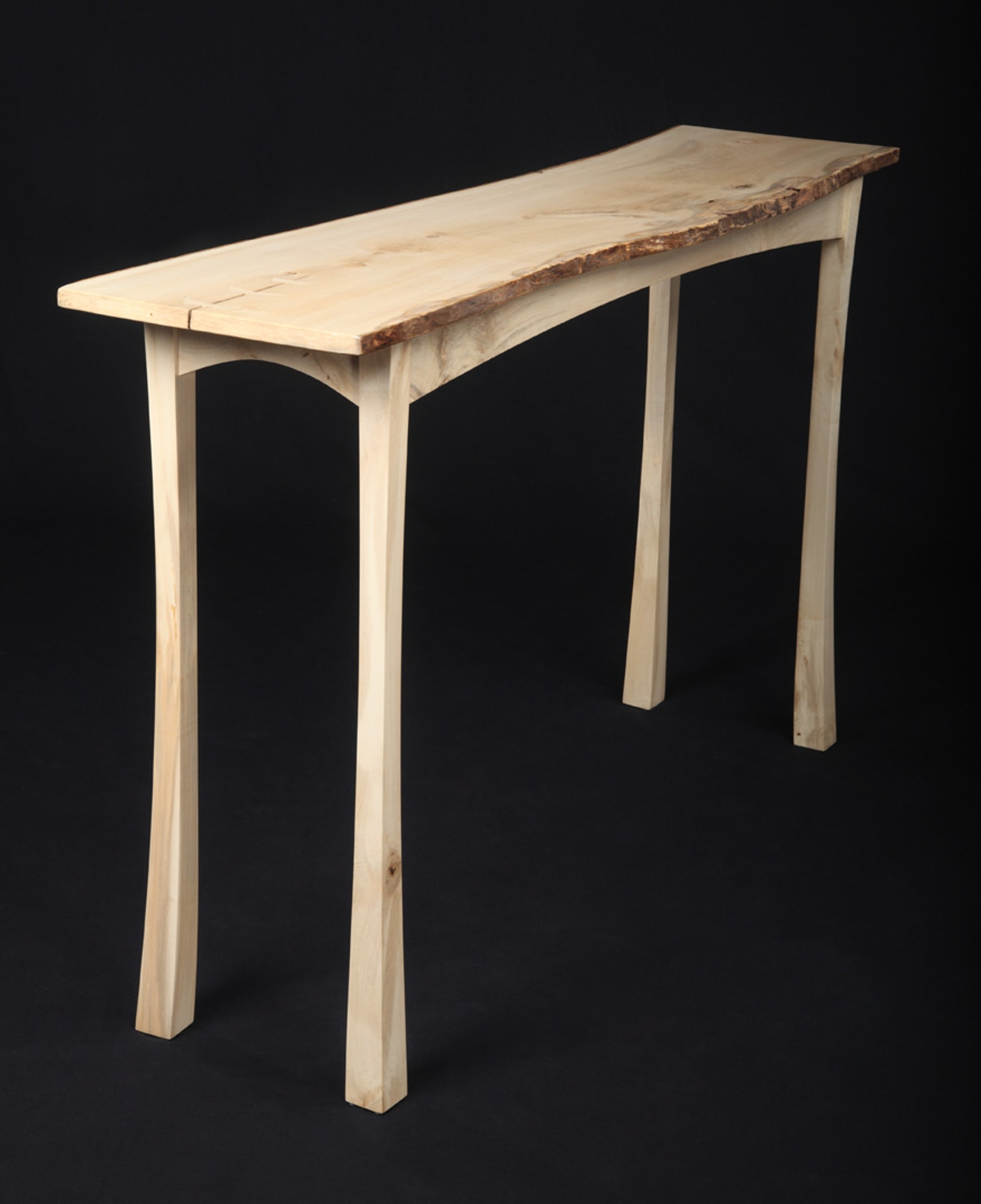 Natural Edge Hall Table