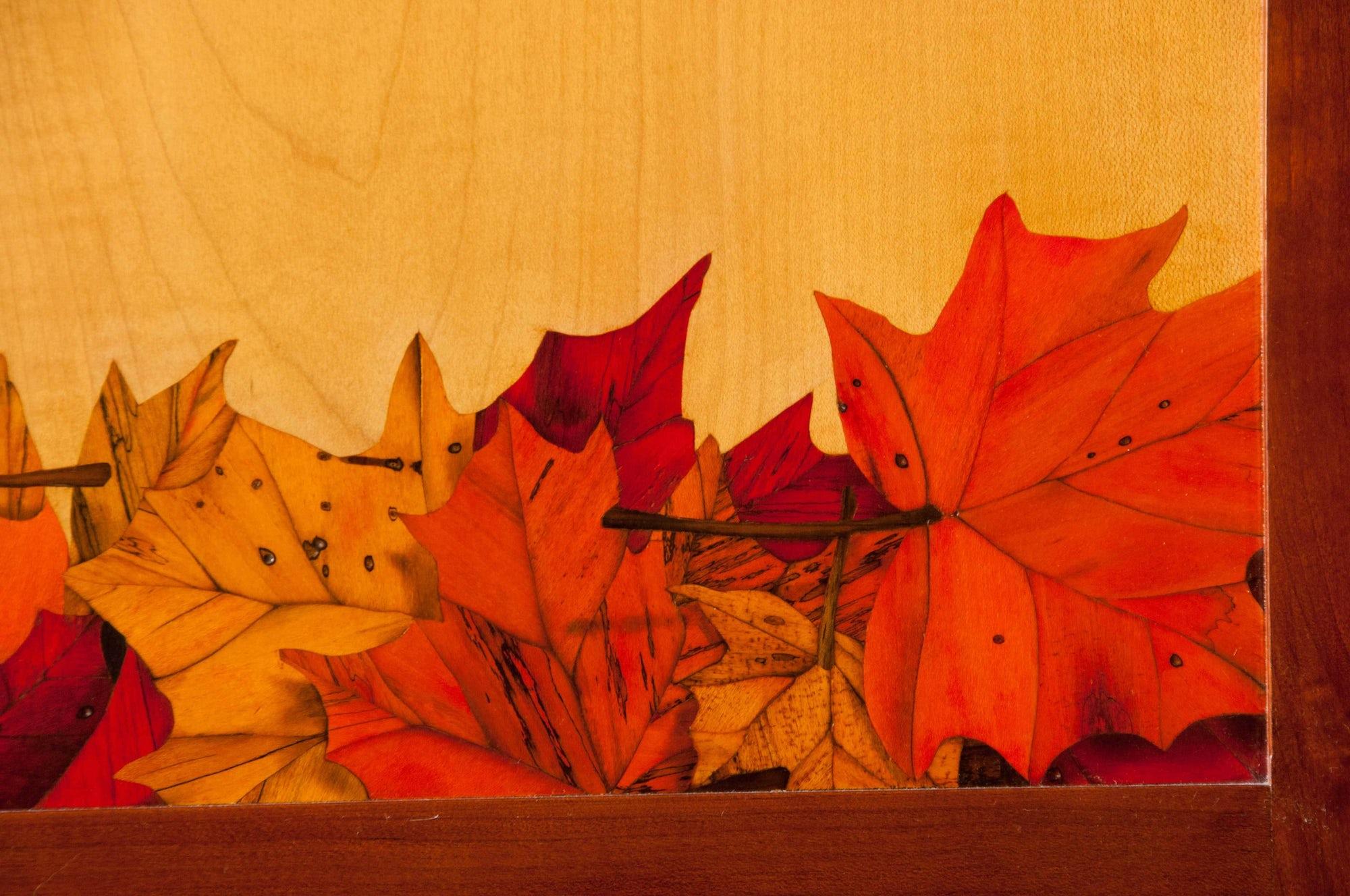 Autumn Cupboard- Marquetry Detail