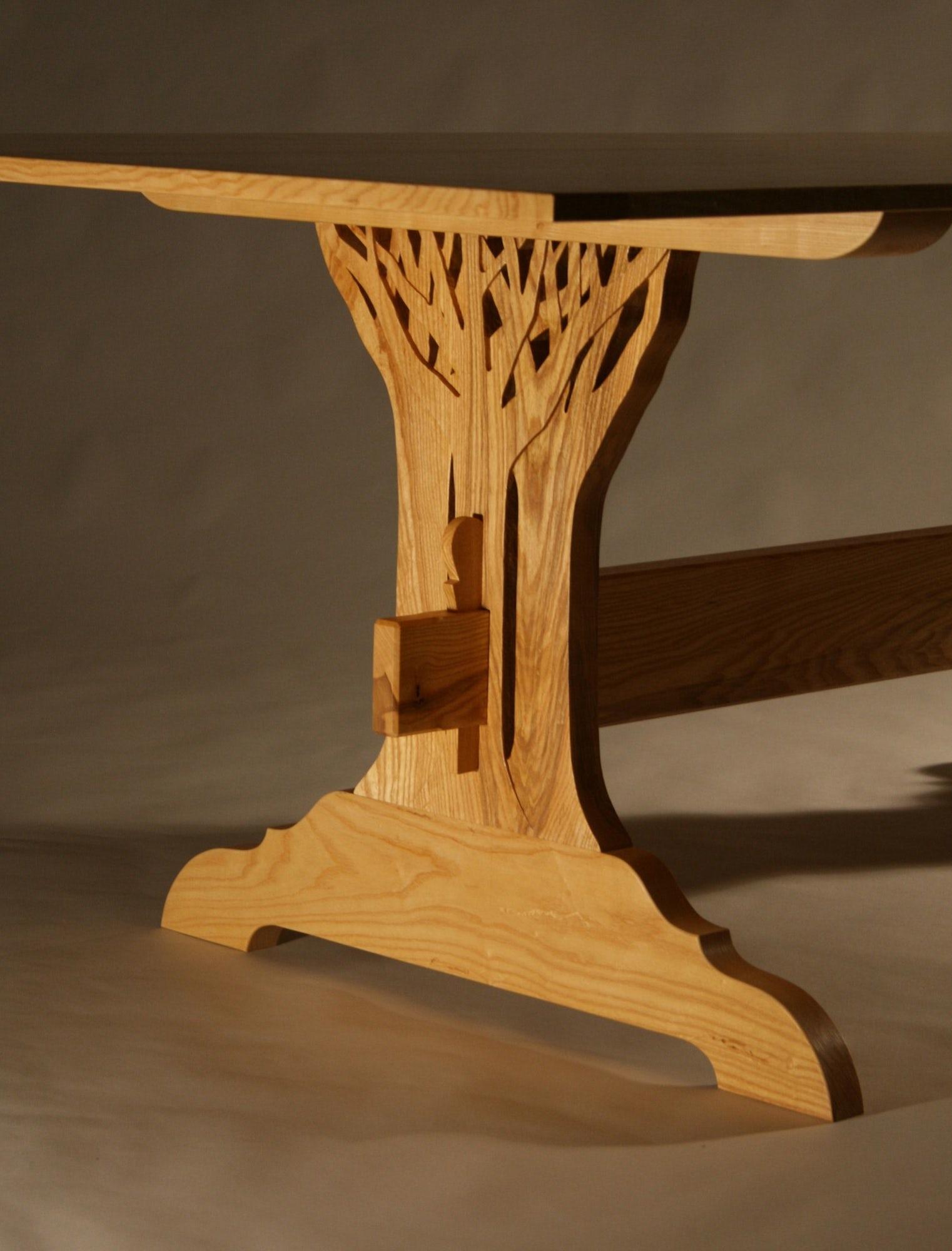 Tree Trestle Table Leg Detail